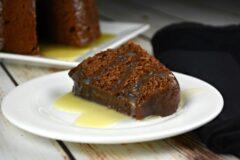 Grandma's Chocolate Eggnog Pudding Cake