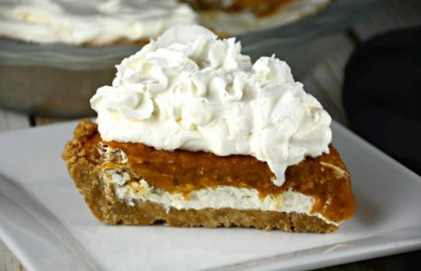 No Bake Layered Creamy Pumpkin Pie
