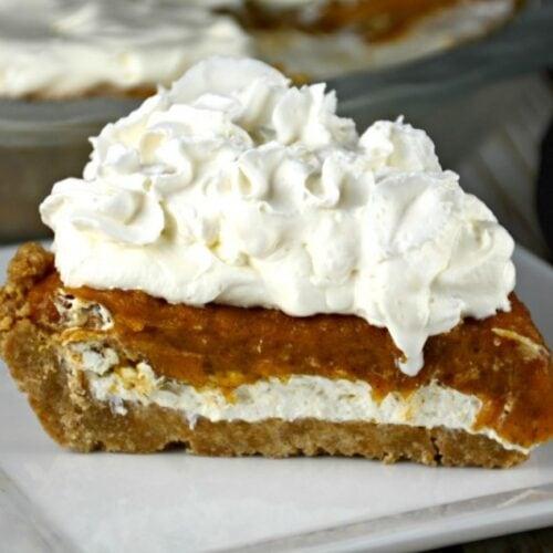 No Bake Layered Creamy Pumpkin Pie