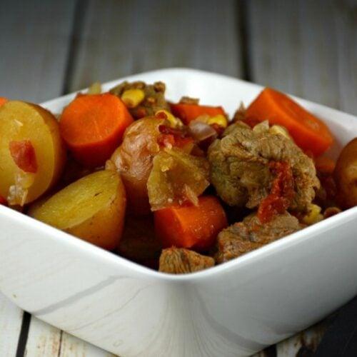 Simple Slow Cooker Steak Stew