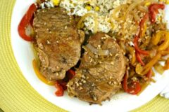 Balsamic Pork Chops with Wine and Garlic