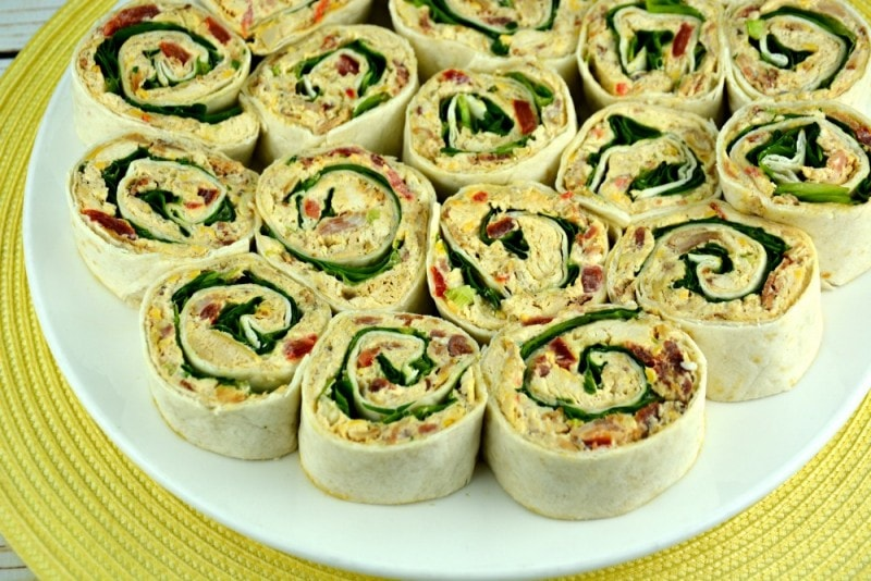Cheesy Chicken Bacon Ranch Pinwheels