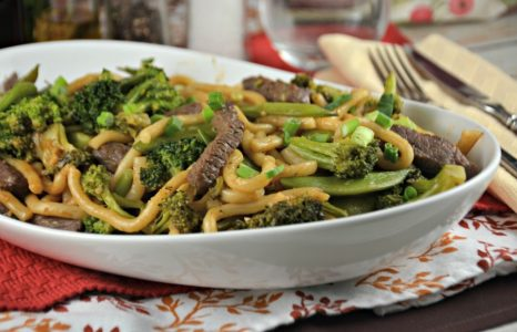 Japanese Inspired Noodles with Beef