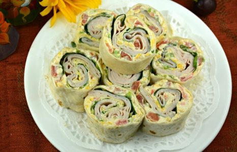 Cheesy Honey Mustard Turkey Roll Ups