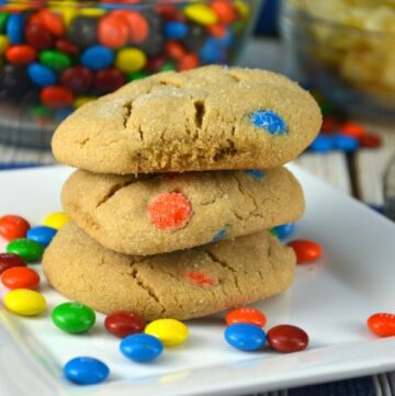 Perfect Peanut Butter M & M Cookies