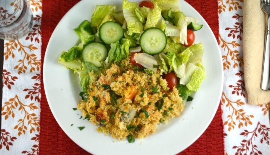 Cheesy Tuna or Salmon Pasta Casserole