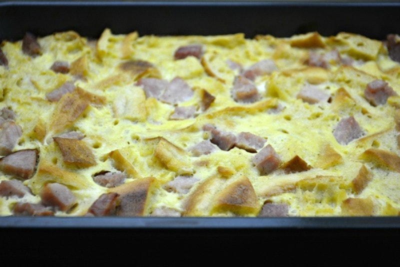 The Easiest Overnight Eggs Benedict Casserole