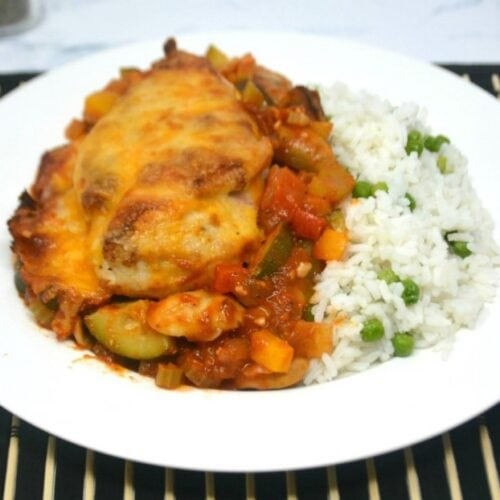 Cheesy Baked Vegetable Chicken