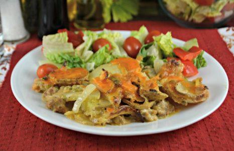 Cheesy Potato Sausage Casserole