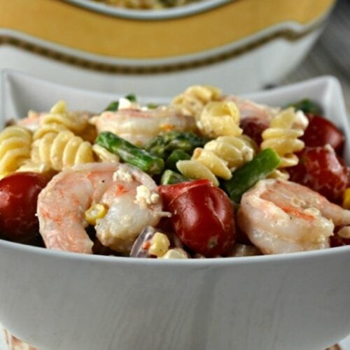 The Best Shrimp Pasta Salad
