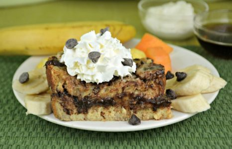 Banana Chocolate Caramel French Toast Bake
