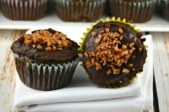 Caramel Infused Chocolate Cupcakes