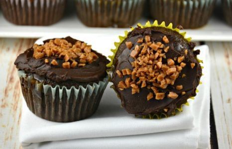 The Easiest Caramel Infused Chocolate Cupcakes