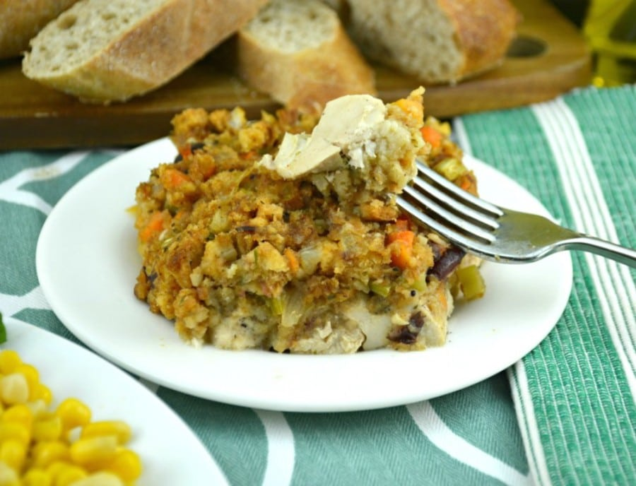 Chicken and Stuffing Oven Bake