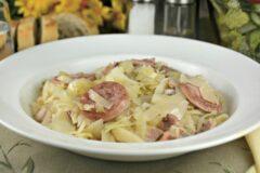Old Fashioned Cabbage Kielbasa and Bacon