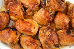 BBQ Apricot Glazed Chicken Thighs