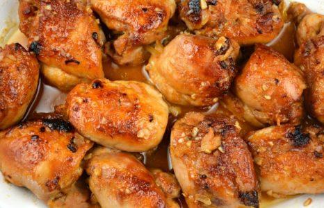 BBQ Apricot Glazed Chicken Thighs
