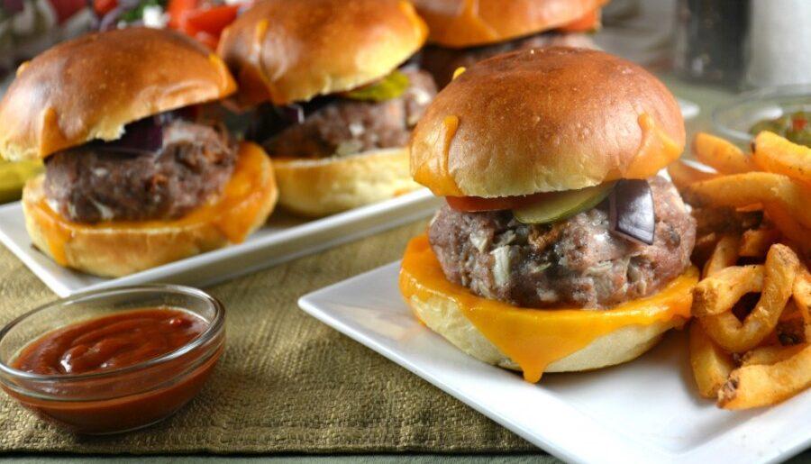 Perfect Parmesan Double Pork Burger