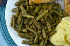 Sweet Garlic Balsamic Green Beans