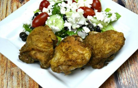 The Crispiest Baked Chicken Thighs