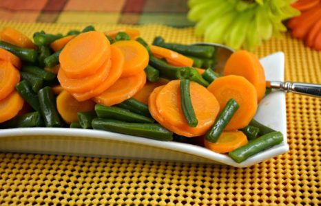 Glazed Green Beans and Carrots