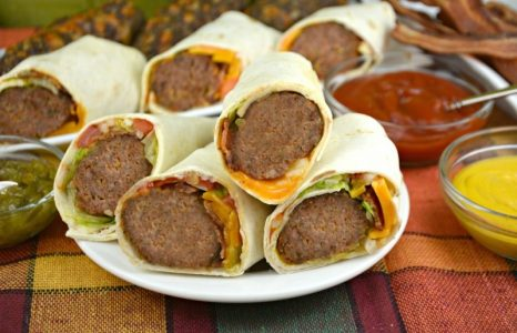 Cheesy Burger Burritos