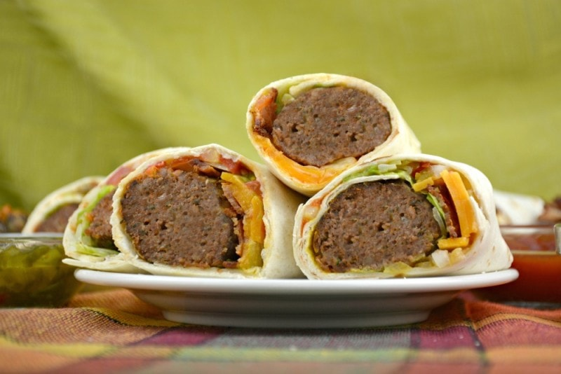 Cheesy Burger Burritos