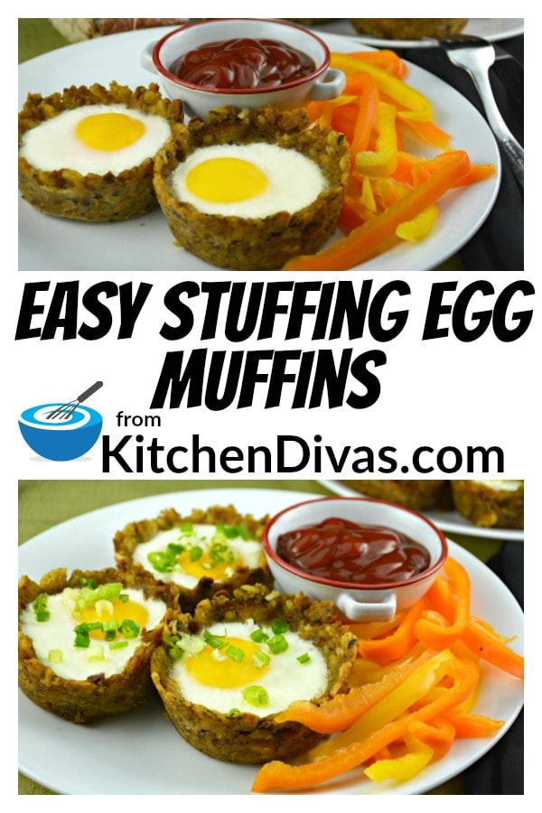 I believe that most people enjoy stuffing! Everyone but my son that is! I still can''t believe it myself! These Easy Stuffing Egg Muffins are such an easy way to prepare morning breakfast or brunch! Truth be told I have even made these for dinner! I love an over easy egg myself and I have to tell you that the stuffing tastes so good with a little yolk! No need for bread or anything else! Never any leftovers! Never any complaints!  https://kitchendivas.com/stuffing-egg-muffin/