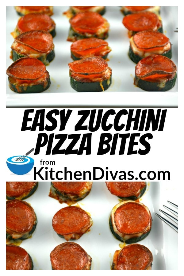 It seems I am always looking for new things to do with zucchini! In an attempt to find new zucchini recipes I stumbled on to one similar to this. Easy Zucchini Pizza Bites are an incredible snack! So easy to make. Everyone loves them. Who can resist anything, even zucchini, with pasta sauce, cheese and pepperoni? I haven't met anyone who can yet!    https://kitchendivas.com/easy-zucchini-pizza-bites/