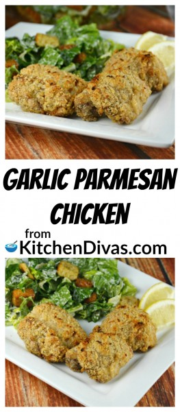 I have been working on finding a baked chicken recipe that tastes like it has been fried. Look no more! This recipe forGarlic Parmesan Chicken Breast or Thighsgives you crispy, juicy, and flavorful chicken every time. Both chicken breasts and chicken thighs taste incredible, in strips or whole. No matter which cut you choose this chicken is totally amazing and so easy too!https://kitchendivas.com/garlic-parmesan-chicken-breast-or-thighs/