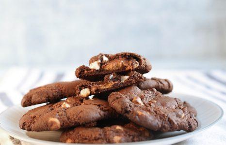 Triple Chocolate Caramel Peanut Butter Cookies