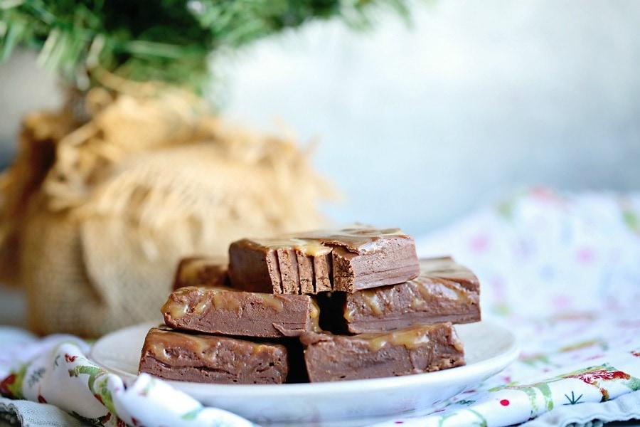 Chocolate Caramel Marble Fudge