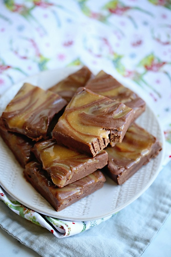 Chocolate Caramel Marble Fudge