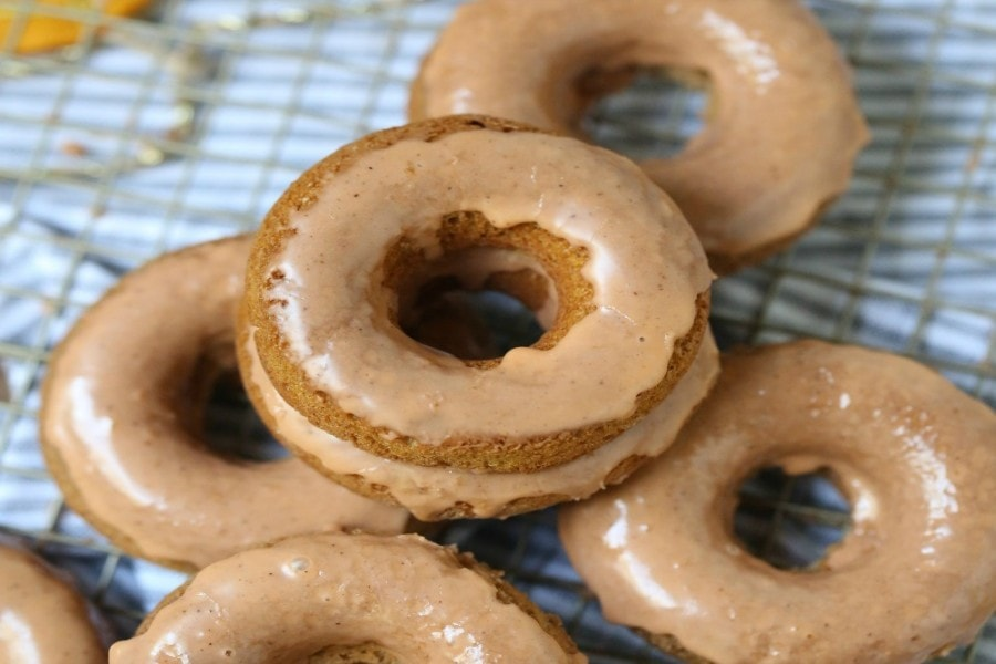 Glazed Pumpkin Donuts