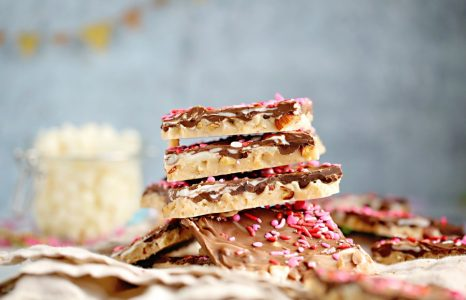 Layered Chocolate Nut Toffee