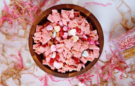 Valentines Chocolate Chex Mix