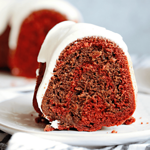 Red Velvet Swirl Bundt Cake