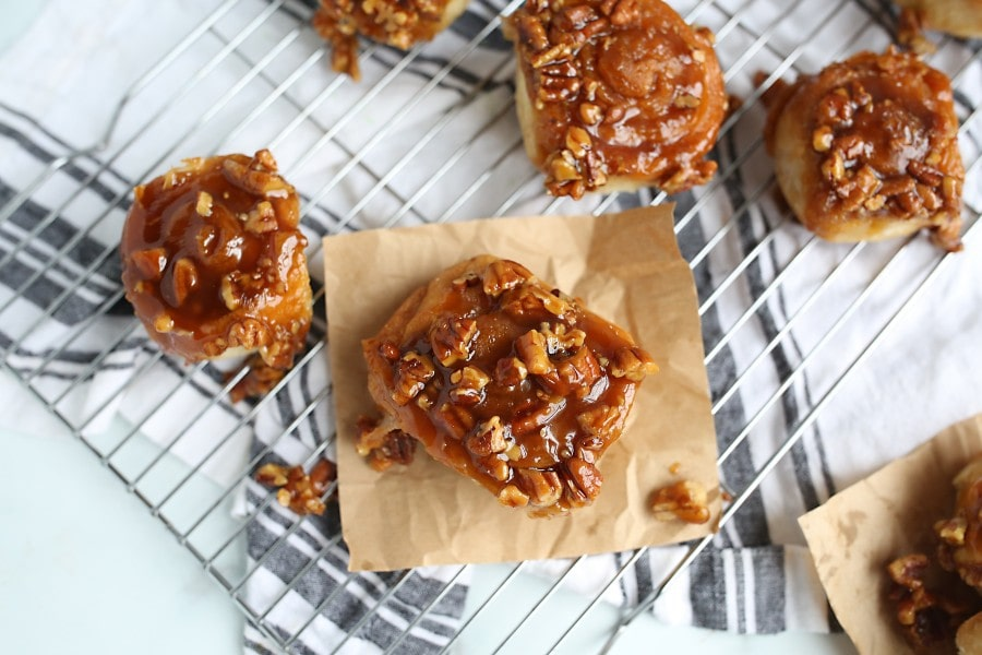 old fashioned sticky buns no nuts