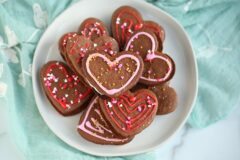 Heart Stuffed Ginger Cookies