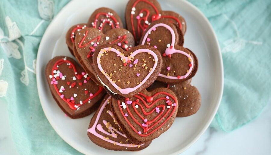 Heart Stuffed Ginger Cookies