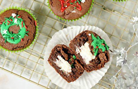 Stuffed Chocolate Cookie Cups