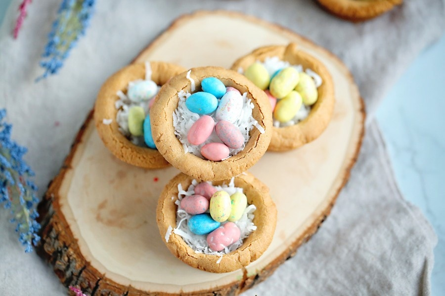 Easter Egg Cookie Nests