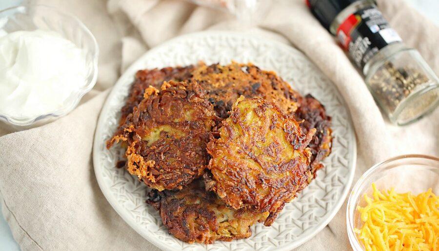 Cheesy Zucchini Potato Pancakes