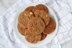 Chewy Chocolate Ginger Molasses Cookies