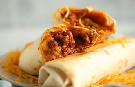 Pork and Bean Burritos