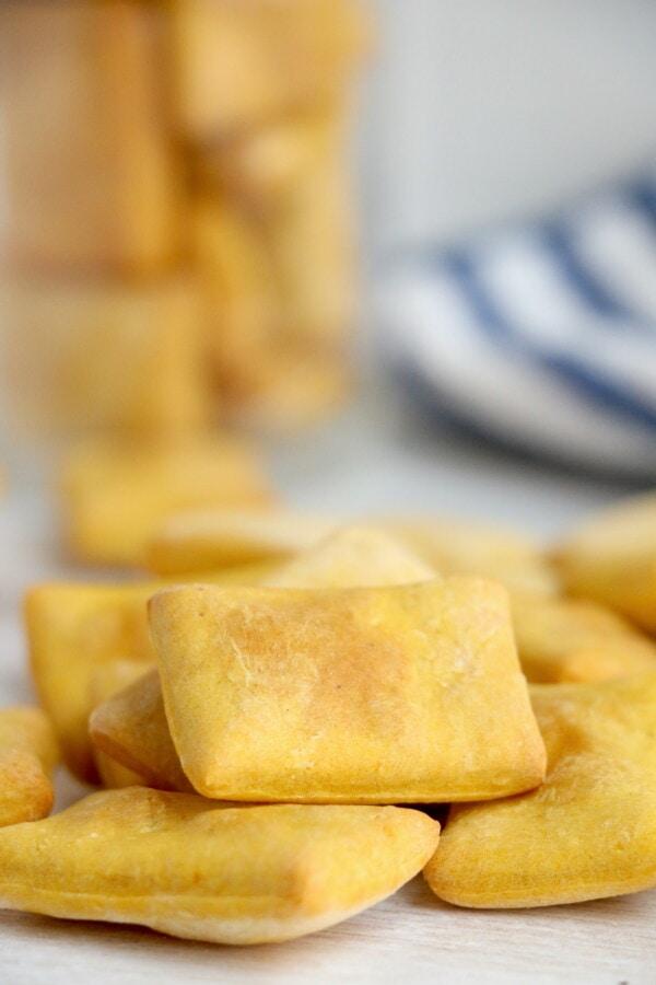 Closeup shot of air fried dog treats