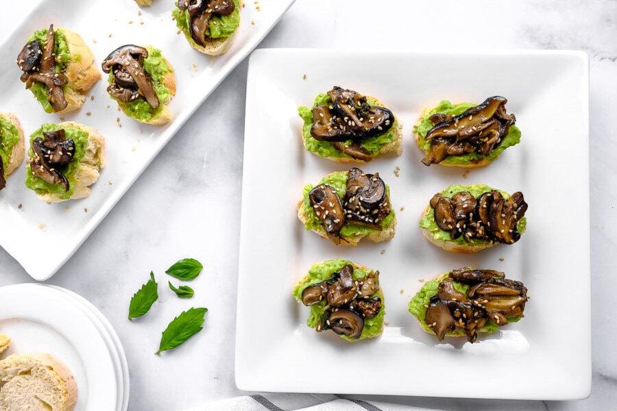 avocado and mushroom toast