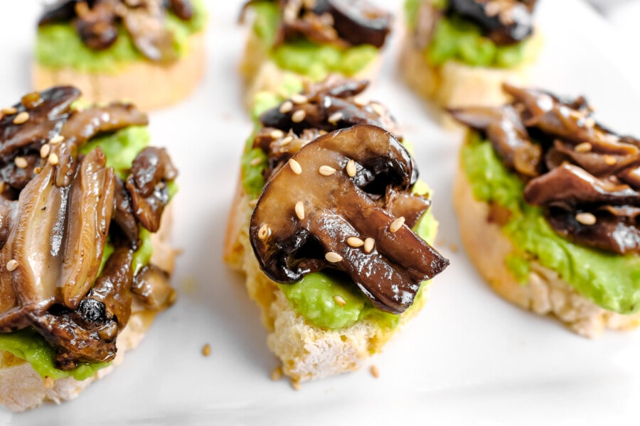 simple avocado and mushroom on toast recipe