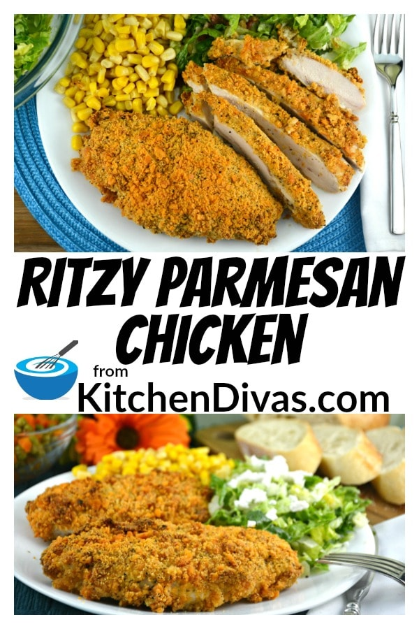 This Ritzy Parmesan Chicken is delicious. If you like Caesar salad dressing, parmesan cheese and Ritz crackers, this chicken is for you.