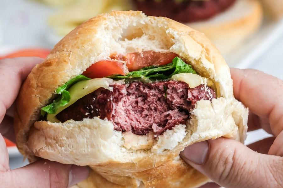 how to smoke hamburgers